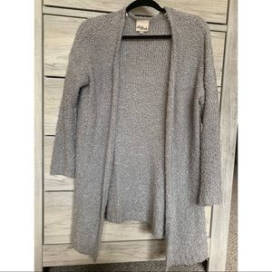 Light gray cardigan